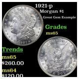 1921-p Morgan $1 Grades GEM Unc