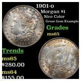 1901-o Morgan $1 Grades GEM Unc