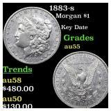 1883-s Morgan $1 Grades Choice AU