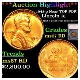 *Highlight* 1948-p Near TOP POP! Lincoln 1c Graded