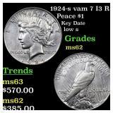 1924-s vam 7 I3 R4 Peace $1 Grades Select Unc