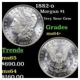 1882-o Morgan $1 Grades Choice+ Unc