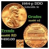 1984-p DDO Lincoln 1c Grades GEM+ Unc RD