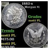 1882-s Morgan $1 Grades Select Unc PL