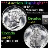 ***Auction Highlight*** 1945-s Mercury Dime 10c Gr