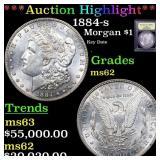 *Highlight* 1884-s Morgan $1 Graded Select Unc