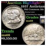 *Highlight* 1937 Antietam Old Commem 50c Graded ms