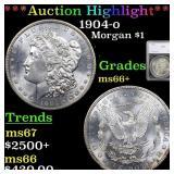 *Highlight* 1904-o Morgan $1 Graded ms66+