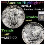 *Highlight* 1926-d Standing Liberty 25c Graded ms6