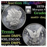 *Highlight* 1879-p Morgan $1 Graded ms65+ dmpl