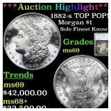 *Highlight* 1882-s TOP POP! Morgan $1 Graded ms69
