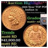 *Highlight* 1868 Near TOP POP! Indian 1c Graded ms