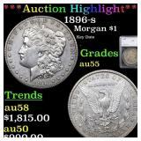 *Highlight* 1896-s Morgan $1 Graded au55