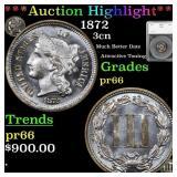 *Highlight* 1872 3cn Graded pr66