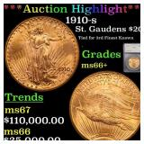 *Highlight* 1910-s St. Gaudens $20 Graded ms66+
