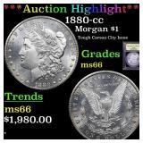 *Highlight* 1880-cc Morgan $1 Graded GEM+ Unc