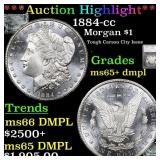 *Highlight* 1884-cc Morgan $1 Graded ms65+ dmpl