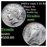 1925-s vam 5 I3 R4 Peace $1 Grades Select Unc