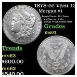 1878-cc vam 13  Morgan $1 Grades Select Unc