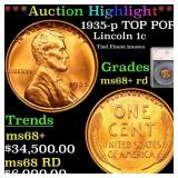 *Highlight* 1935-p TOP POP! Lincoln 1c Graded ms68