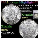 *Highlight* 1898-o vam 9A I2 R5 Morgan $1 Graded m