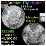 *Highlight* 1888-p Morgan $1 Graded ms66 pl