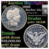 *Highlight* 1896 Barber 25c Graded pr67+ DCAM