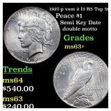 1927-p vam 2 I3 R5 Top 50 Peace $1 Grades Select+