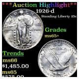 *Highlight* 1926-d Standing Liberty 25c Grades GEM