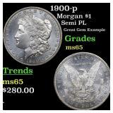 1900-p Morgan $1 Grades GEM Unc
