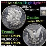 *Highlight* 1881-s Morgan $1 Graded ms66+ DMPL