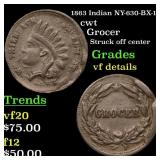 1863 Indian NY-630-BX-12 cwt Grades vf details