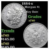 1884-s Morgan $1 Grades xf
