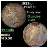 1923-p Peace $1 Grades Select Unc