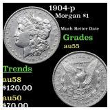 1904-p Morgan $1 Grades Choice AU