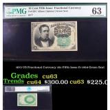 1875 US Fractional Currency 10c Fifth Issue fr-126