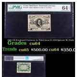 PCGS 1863 US Fractional Currency 5c Third Issue fr