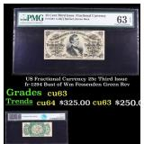 US Fractional Currency 25c Third Issue fr-1294 Bus