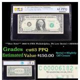 PCGS **Star Note** 1961 $1 FRN Philidelphia, PA Lo