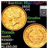 *Highlight* 1852 G$1 Graded ms64+