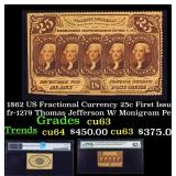 1862 US Fractional Currency 25c First Issue fr-127