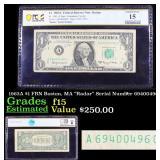 """PCGS 1963A $1 FRN Boston, MA """"Radar"""" Serial Number"""