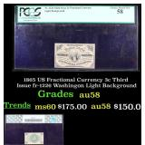 PCGS 1865 US Fractional Currency 3c Third Issue fr