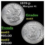 1879-p Morgan Dollar $1 Grades Select Unc