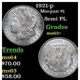 1921-p Morgan Dollar $1 Grades Select+ Unc
