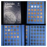 Partial Lincoln cent book 1941- 1959 51 coins . .