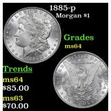 1885-p Morgan Dollar $1 Grades Choice Unc