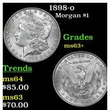 1898-o Morgan Dollar $1 Grades Select+ Unc