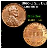 1960-d Sm Date Lincoln Cent 1c Grades Select+ Unc