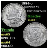 1884-o Morgan Dollar $1 Grades Choice+ Unc